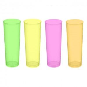 Vaso de tubo de colores - DeFiestaEnCasa