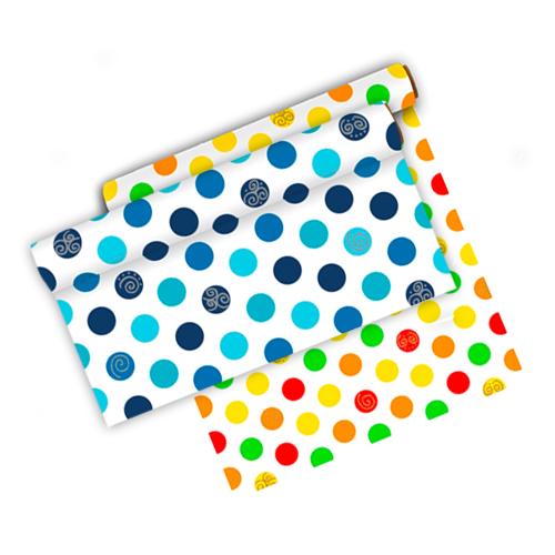 Mantel de centro de mesa con bolas de colores defiestaencasa