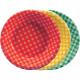 Plato hondo de cuadros en colores - DeFiestaEnCasa