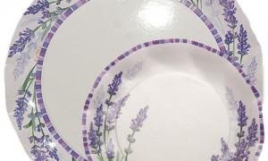 Conjunto platos cartón lavanda-DeFiestaEnCasa