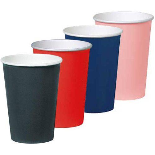Vaso de cartón en colores - DeFiestaEnCasa