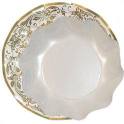 Plato-Nobleza-oro-con-plato-hondo-blanco