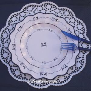 Presentación con plato Royal blue - DeFiestaEnCasa