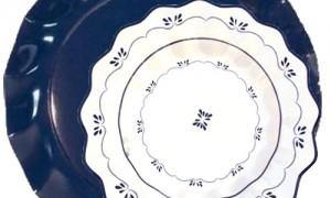 Plato azul marino con plato royal blue