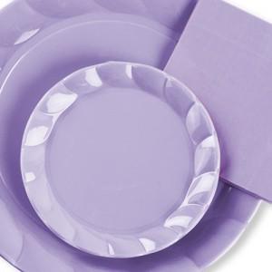 Plato de plástico lila - DeFiestaEnCasa