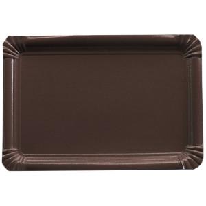Bandeja rectangular marrón - DeFiestaEnCasa