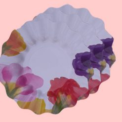 Plato estampado Flora