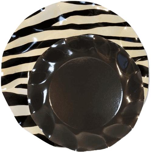 Plato-cebra-con-plato-negro