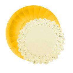 Set de platos con blondas a juego-