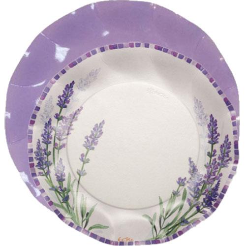 Plato lila con plato edén-DeFiestaEnCasa