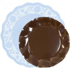 blonda papel -celeste-con-plato-marrón-DeFiestaEnCasa