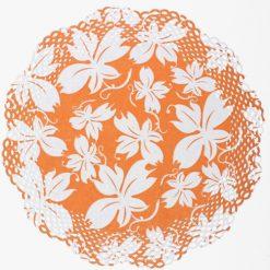 Blonda con estampado de flores naranja - DeFiestaEnCasa