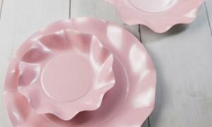 Presentación con bol satinado rosa perlado - DeFiestaEnCasa