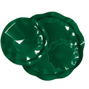 Bol satinado verde botella - DeFiestaEnCasa