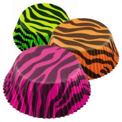 Cápsulas cebra en colores - DeFiestaEnCasa