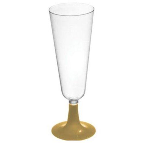 Copa de cava con pie en dorado - DeFiestaEnCasa