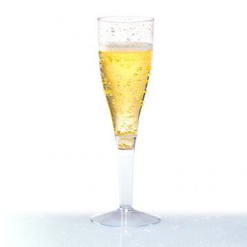 Copa de champagne con pie en transparente - DeFiestaEnCasa
