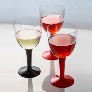 Copas de vino y cerveza de colores - DeFiestaEnCasa
