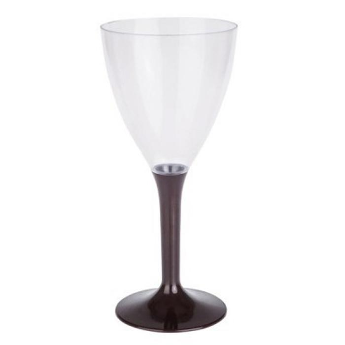 Copa de vino con pie marrón - DeFiestaEnCasa