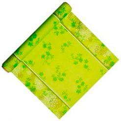 Mantel centro de mesa flores verde - DeFiestaEnCasa