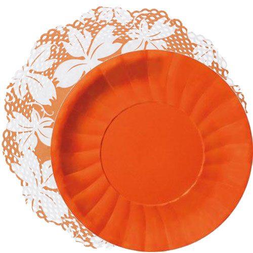 blonda naranja blanco con plato naranja