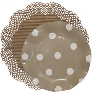 blonda rayas marrón con plato lunares visón