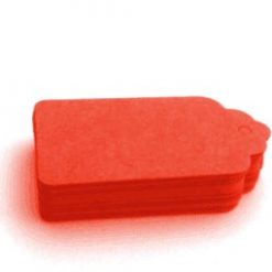 Etiqueta cartón rojo