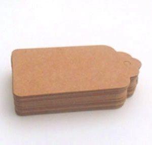 Etiquetas cartón marrón con lazo