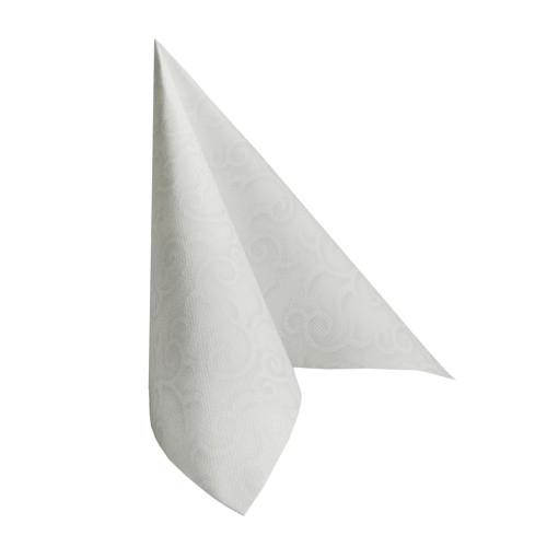 Servilleta aspecto tela blanca