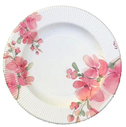 plato-flores-rosas comunión-02-DefiestaEnCasa