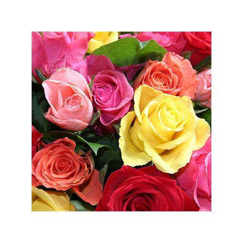 Servilleta decorada rosas