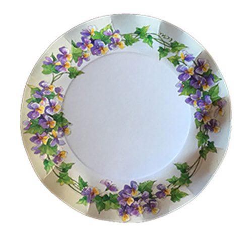 Plato decorado Violetas
