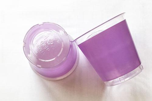 Vaso color lila