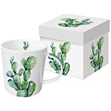 Taza de porcelana cactus