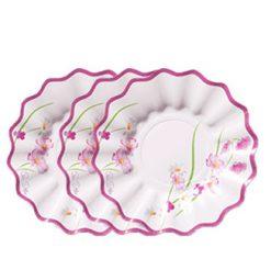 Plato-cartón-pequeñas-flores-
