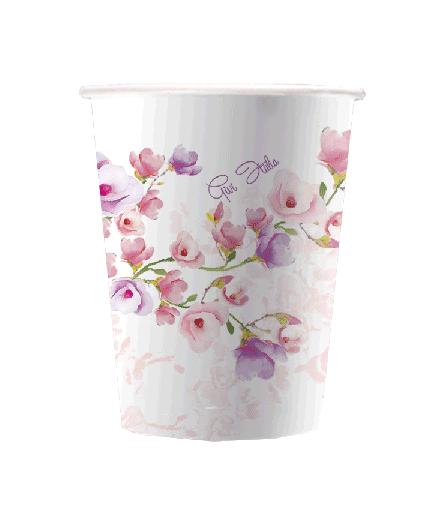 Vaso de papel flor de glicina